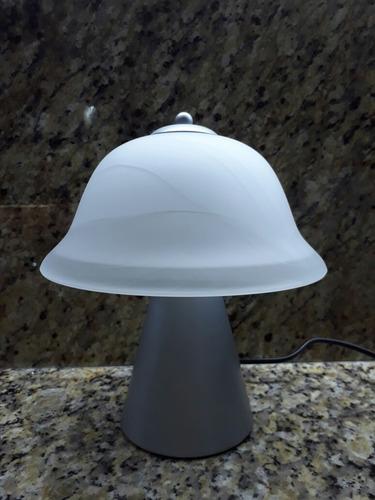 lámpara de mesa 1 luz e27 plata (611)