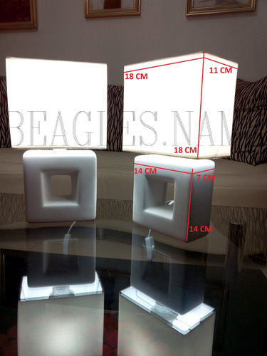 lampara de mesa 2 morochas modernas ceramica acrilico lujosa