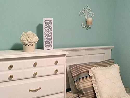 lámpara de mesa blanca de dailyart con el recorte en forma