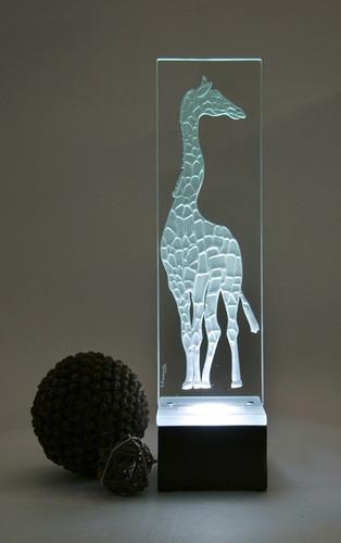 lámpara de mesa buró jirafa escritorio cristal decorativa