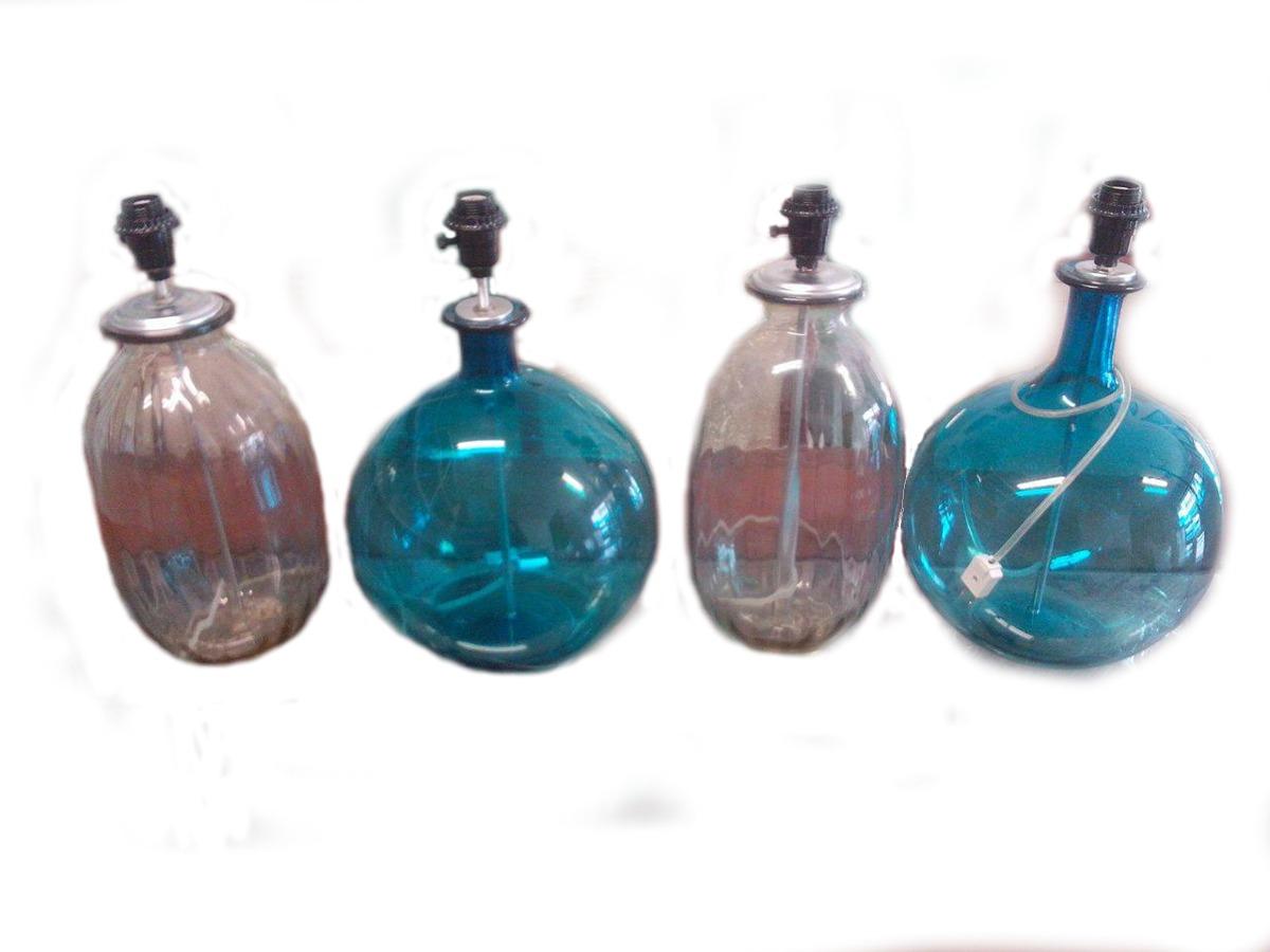 Lampara de mesa de cristal en mercado libre for Lamparas de mesa de cristal