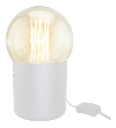 lámpara de mesa deli e27 con lámpara globo filamento cuotas