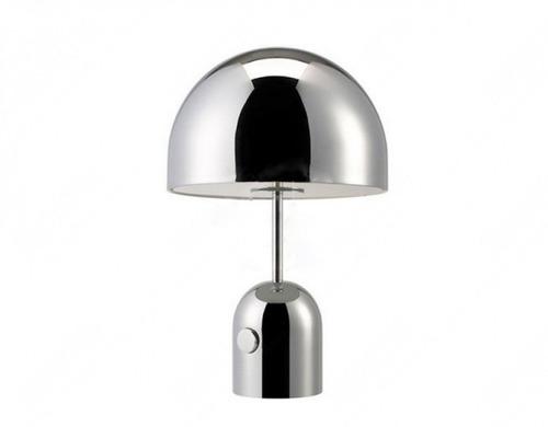lampara de mesa dix diseño pantalla 40 cm cromo 3 lamparas