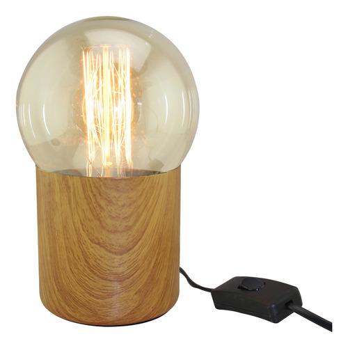 lámpara de mesa e27 deli g125 madera escritorio cuotas