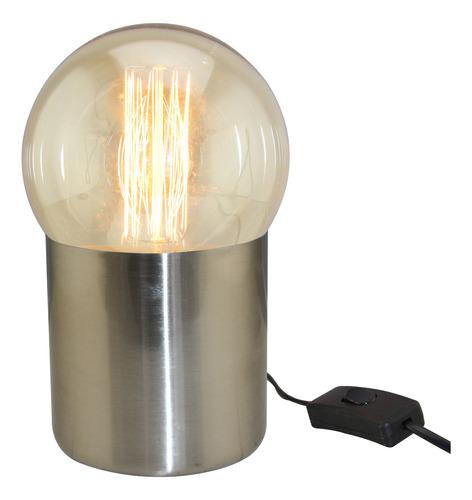 lámpara de mesa e27 deli platil oro escritorio velador cuota
