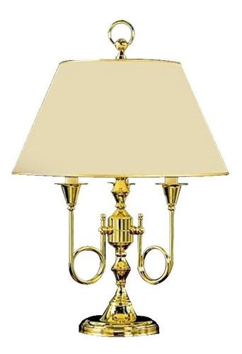 lampara de mesa en bronce trumpet 3 luces led