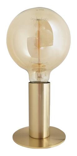 lámpara de mesa huancaína e27 bulbo interior oro platil