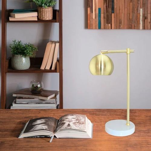 lámpara de mesa jacobsen e27 bulbo oro deco interior cuotas