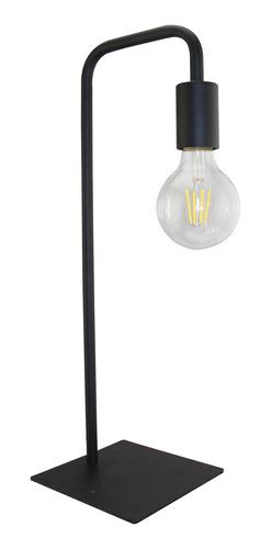 lámpara de mesa jalisco e27 bulbo negro escritorio deco