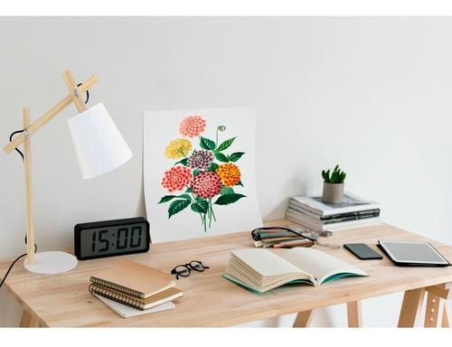 lámpara de mesa madera articulada timoteo deco cuotas
