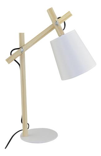 lámpara de mesa madera articulada timoteo escritorio deco
