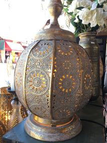 Calada Marruecos Maroqui Lm20 De Mesa Lampara Metal dsQrtCBohx