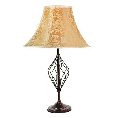 lampara de mesa metalica modelo rustico