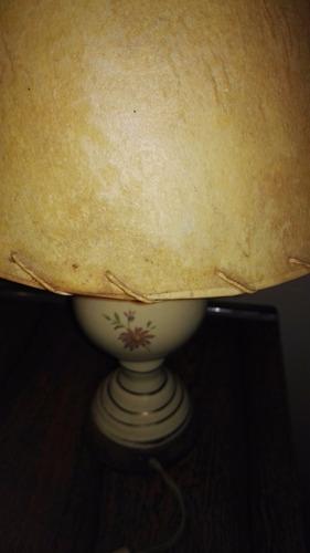 lampara de mesa pie ceramica funcionando
