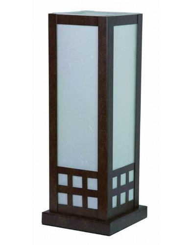 lámpara de mesa - serie tribeca - negro o cafe rustico