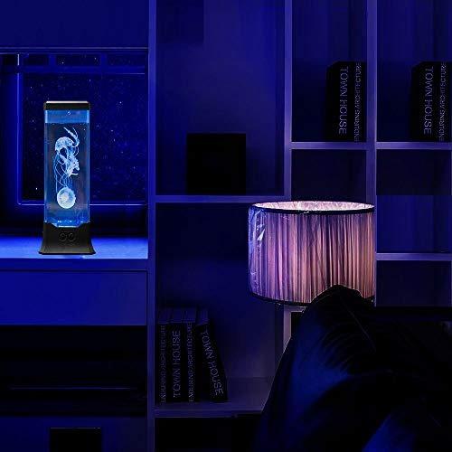 lámpara de mesa tanque de medusas eléctrica con el cambio
