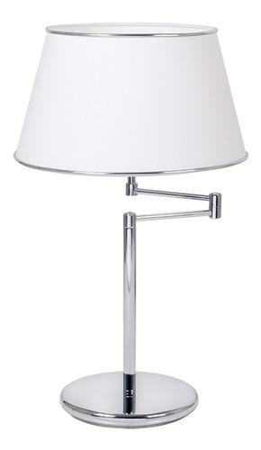 lampara de mesa ulma cromado o platil con brazo
