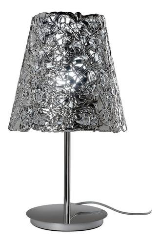 lampara de mesa velador platinum 201 cromado led incluido