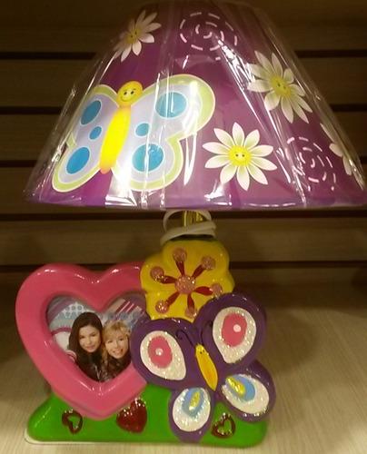 lampara  de mesita para niña con portaretrato / 35 cm altura