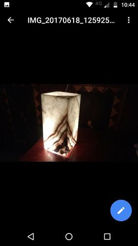 lámpara de ónix