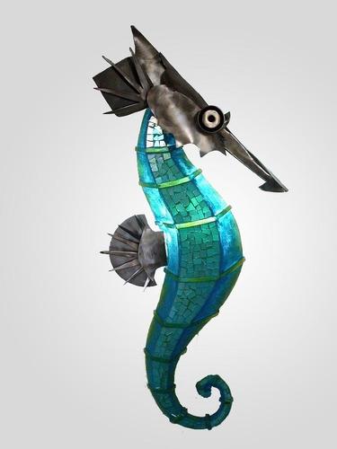 lampara de pared caballo de mar