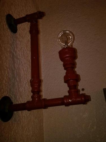 lampara de pared industrial vintage