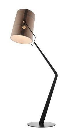 lampara de pie alivar living diseño aluminio e27 14w