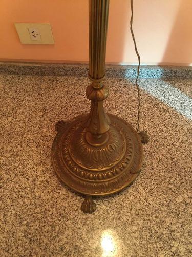 lampara de pie antigua de bronce