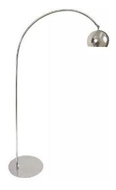 lampara de pie arco cromo extensible