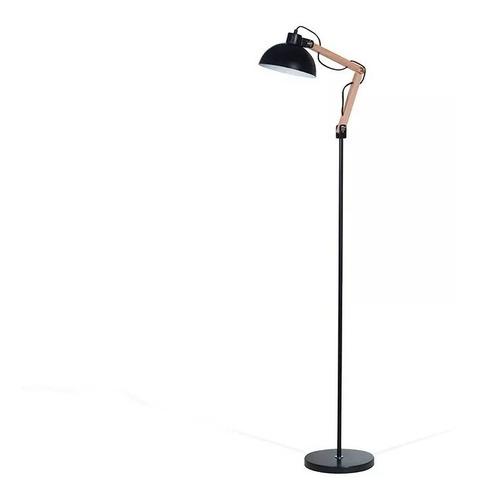 lampara de pie arlon combinada bco/negro