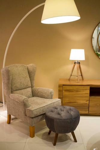 lampara de pie base mármol pantalla blanca