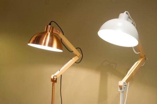 lampara de pie combinada arlon cobre