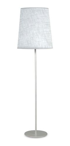 lampara de pie con pantalla 2 luces liv apto led conica