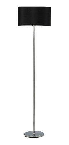 lampara de pie cromo para 1 luz anouk lienzo pantalla deco