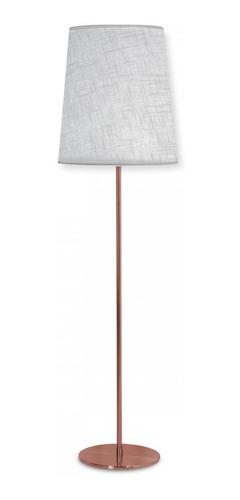 lampara de pie en cobre-pantallas: liv ( patanlla blanca )