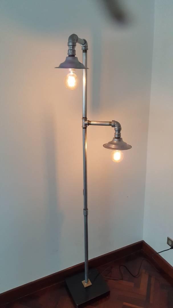 Lampara de pie estilo industrial vintage bs - Iluminacion estilo industrial ...