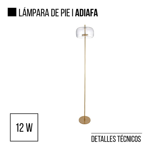 lampara de pie led integrado adiafa leuk en cuotas