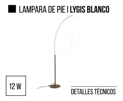 lampara de pie led integrado lygis blanco leuk en cuotas