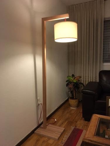 lámpara de pie - madera finger