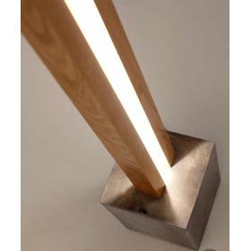 Lámpara De Pie Madera Y Cemento