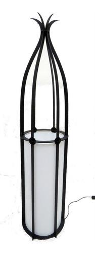 lampara de pie mimbre moderno 1,20m c/pantalla en 7 colores