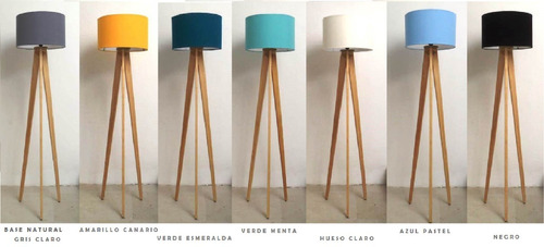 lampara de pie minimalista nordica vintage de piso tripie