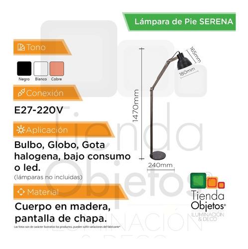 lámpara de pie moderna escandavina nórdico e27 serena cuotas