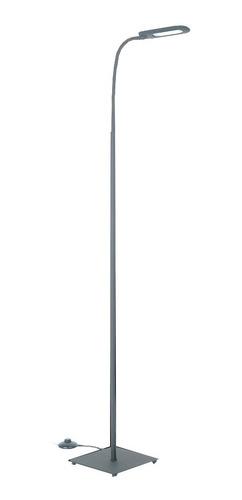 lampara de pie neron gris 4w led 3 intensidades diseño