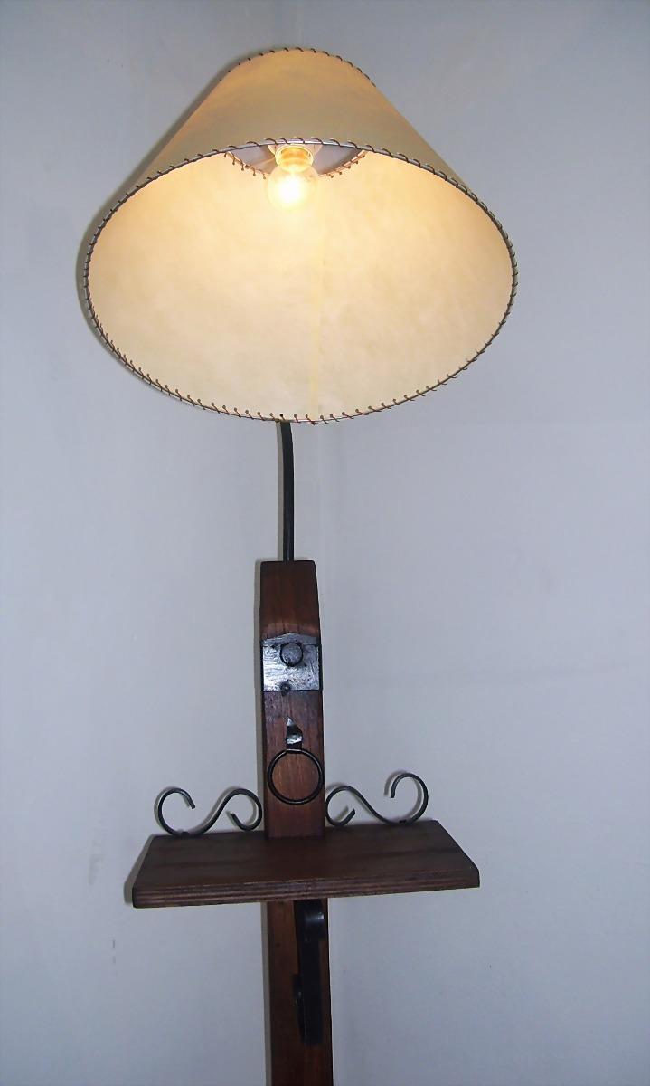 Lamparas rusticas de madera aunque mesa madera rstica - Lamparas de pie rusticas de madera ...