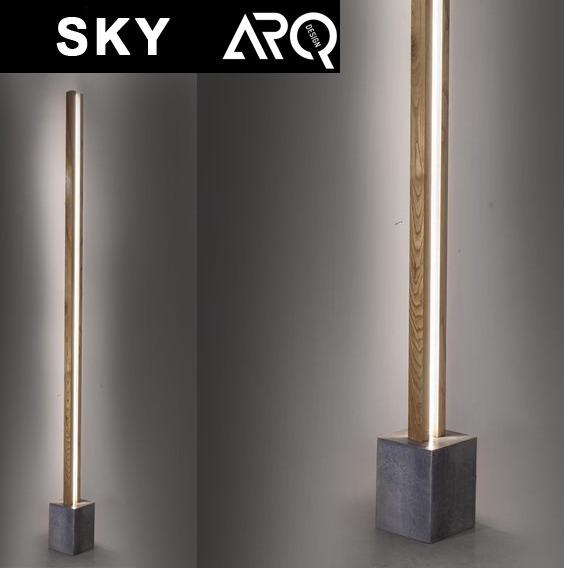 De Difusor Base Cemento P Pie Diseño Sky Madera Lampara QrxCeBWdo