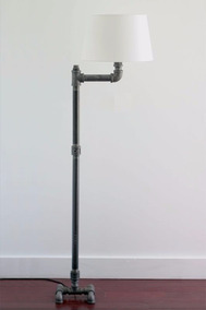 Vintage Industrial Lámpara Steh Moebel De Pie Lampe bfy76gY