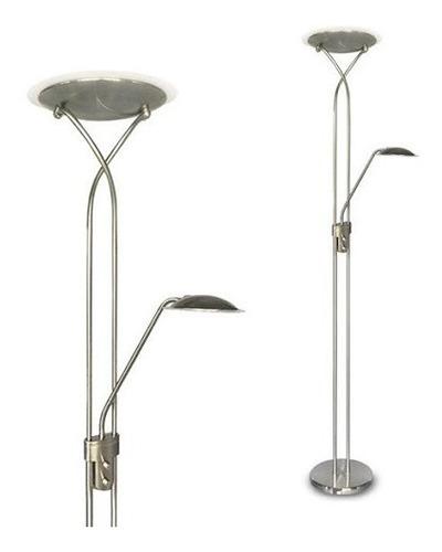 lampara de pie topacio platil difusora y lectora led 18w+6w