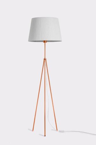 lampara de pie trípode cobre