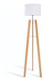 Cromo Modelo Estructura Pie Tripode Trinia Lampara De Madera c5j4AR3Lq